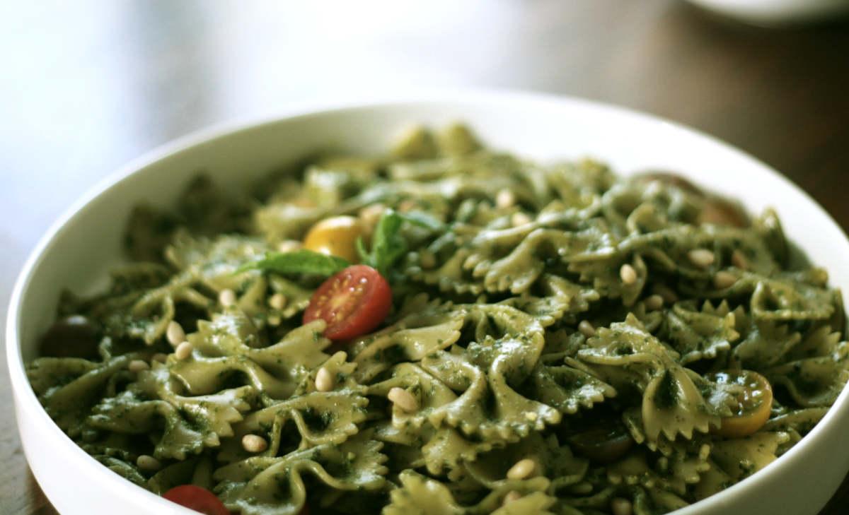 Vegan Basil Pesto with Farfalle Pesto